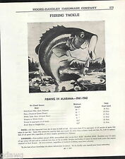 1943 ADVERT Fishing In Alabama Heddon's Fish Limits Chats 1938 Great Graphic