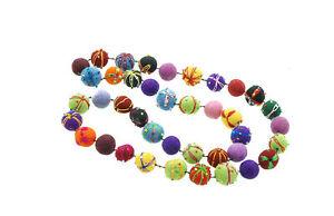 Halskette IN Perlen Aus Filz Peterandclo Nepal 23
