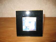 *NEW* Cadre porte-photo bord noir filet doré photo 6,5x6,5cm extérieur 13x13cm
