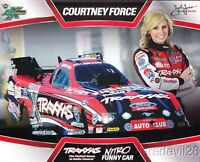 2013 Courtney Force Traxxas Ford Mustang Funny Car NHRA postcard