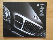 Daewoo Musso et Korando 4x4 ORIG UK 2000 Marketing prestige grand format sales brochure