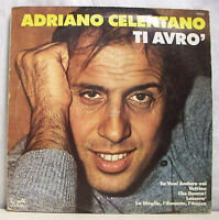 "33 tours ADRIANO CELENTANO Disque Vinyl LP 12"" TI AVRO - EURODISC 26179 F Réduit"