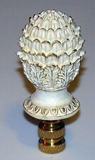 "NEW In Package Off White Cream Shabby Chic 3"" Pineapple Decorative Lamp Finial"