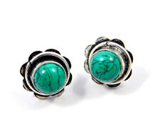Stud Earring Jewelry Jc8116 Turquoise .925 Silver Plated Handmade