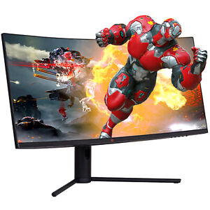 """Deco Gear 34"""" Curved Monitor 3440x1440 21:9 Ultrawide, 144Hz, HDR10, 4000:1, 6ms"""