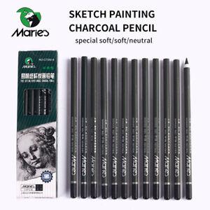 Marie's 12pcs Black Pencil Painting Drawing Lapiz Set Student Stationery Art