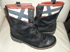 Trendmarke Napapijri NAPAPIJRI Stiefel Boots Gr.45 Leder Schwarz Flagge NP 439€