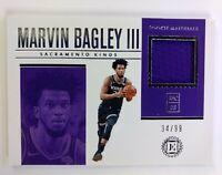 2018-19 Panini Encased Rookie Materials Marvin Bagley III #RM-MB, #'d /99