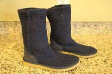 UGGS Classic Crochet Navy Blue Cable Knit Boots Size 7 #5833 (UGG100