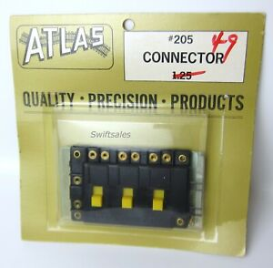 Atlas #205 Connector - Three SPST Switches w/ Brass Inserts & Lugs - New Vintage