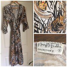 Vtg Mary McFadden Signature Mod Pop Robe Dress 1980s Collection 1 Leopard Jaguar