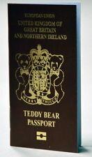Merrythought TBPT2 Teddy bear Passport