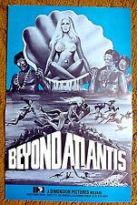 """BEYOND ATLANTIS"" - an ocean of lost treasures - original & uncut 1973 pressbook"