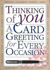 """AS NEW"" Thinking of You a Card Greeting for Every Occasion, Katie Hewat, Book"