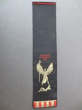 Vintage BOOKMARK Woven Silk Franklins COVENTRY CATHEDRAL 1962 Black Gold