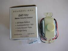 ATLAS DAT-10I Attenuator Decora Ivory Volume Control 25/70 V 40 Watt STEREO NOS