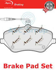 Apec Front Brake Pads Set OE Quality Replacement with Wear Indicator PAD1404