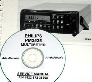 Philips PM2525 Multimeter Service Manual
