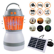 Outdoor Solar Mosquito Killer Lamp Camping Light Led Electric Fly Insect Zapper