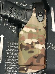 Safari Tactical Colt 1911 Glock 17 Right hand flashlight torch Holster Multicam