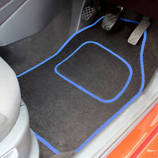 BLACK & BLUE EDGE REPLACEMENT 4 PCE CAR MAT SET - UNIVERSAL FRONT AND REAR MATS
