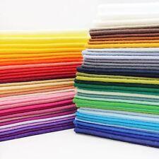 Fieltro de Lana Mezcla Hoja 9x9 Pulgadas Tela gruesa de 1 mm 71 Colores Manualidades Juguete Oso hace