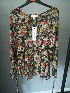 Topshop Floral Blouse Size 8 Bnwt RRP £29.99