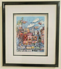 """Charles Fazzino 3D Pop Art Vintage """"Going To NY"""" Signed numbered 337/475"""