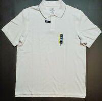 Mens George No Roll Collar Stretch Pique Polo Shirt XS S L XL XXL XXXL White NWT