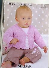Sirdar Tiny tots  Knits sizes birth to 6 years knitting leaflet no.1725 /3ply