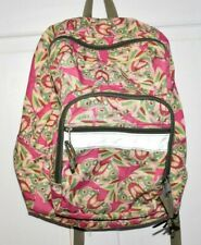 L.L. Bean PINK WITH  FLOWER PRINT BACKPACK