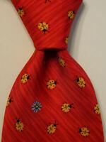 ROBERT TALBOTT Men's 100% Silk Necktie USA Designer LADYBUGS Red/Yellow/Blue EUC