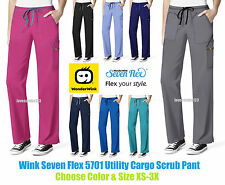 Wonder Wink Seven Flex Utility Cargo Scrub Pant 5701 All Sizes&Colors Ships Free