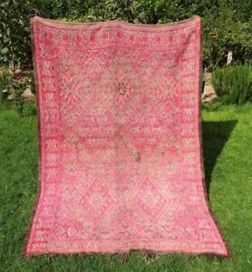 "Old Vintage Moroccan Handmade Beni M'Guild Mguild Berber Rugs 9'6"" x 6'2"""