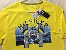 Tommy Hilfiger Sailing Class 85 T-Shirt Men's Size Large Yellow Boat Tee NWT
