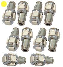 10x ampoule 12V BA7S 5LED SMD lumière jaune