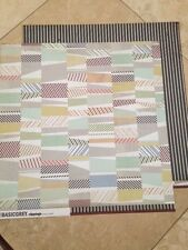 "Basic Grey Clippings ""Herald"" 12x12 Paper! 2 pcs"