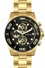 Invicta DC COMICS Limited BATMAN Men's Chronograph Gold Tone 43mm Watch 29060