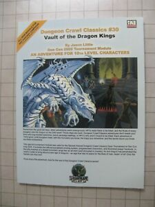 DUNGEON CRAWL CLASSICS #30 VAULT OF THE DRAGON KINGS New D20 Dungeons & Dragons