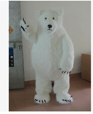 High quality Polar Bear Mascot Costume Halloween Party Dress Free Shipping