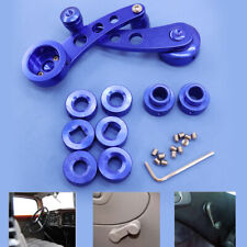 Blue Universal Aluminum Car Interior Manual Door Window Winders Crank Handles