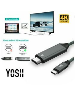 YOSH USB Type C Thunderbolt 3 To HDMI Cable HDCP2.2 For Projector 4K HDScreen
