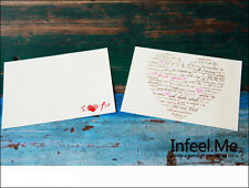 2pc I Love You Heart Multiple languages Postcard Wedding Gift Propose Cards