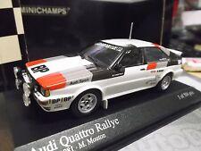 AUDI Quattro Rallye Test Monte Carlo 1981 Mouton / Pons Testcar Minichamps 1:43