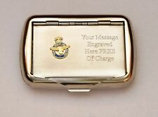 RAF Wings Emblem Cut out Design Tobacco Hand Rolling Roll Up Cigarette Tin