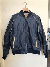 Vintage 80's North Bay Pegasus Reversible Satin Bomber Jacket Mens Size L