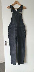 ASOS Denim Dungaree Faded Black Jeans Size 8