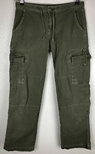 Prana Women's Pants Size 6 Convertible Roll Up Hiking Green Casual Cotton 32/30