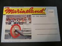 Marineland of the Pacific Souvenir Fold-out 14 views 1950s California CA Dolphin