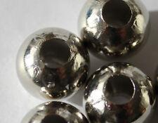 NUEVO Joya Moderna 10000 Perlas De Metal Aleación 2mm 925 Plateado Cadena